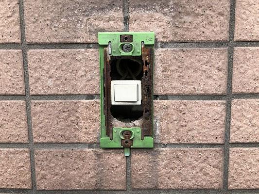 故障した外灯照明スイッチ交換工事の流れ。その3【新潟市中央区内の病院】