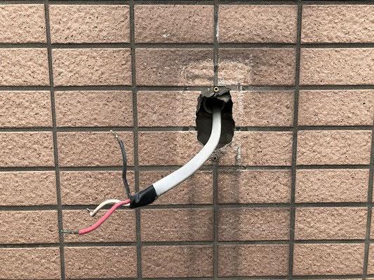 故障した外灯照明スイッチ交換工事の流れ。その5【新潟市中央区内の病院】