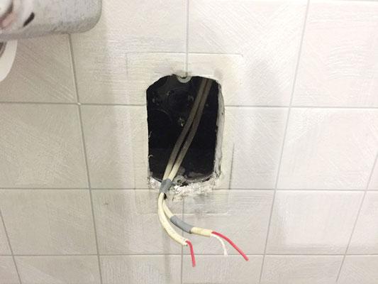 故障した病院のトイレ呼び出しボタン交換工事の様子。その1【新潟市西区】