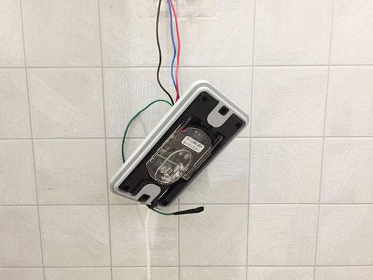 故障した病院のトイレ呼び出しボタン交換工事の様子。その2【新潟市西区】