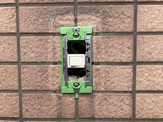 故障した外灯照明スイッチ交換工事の流れ。その4【新潟市中央区内の病院】