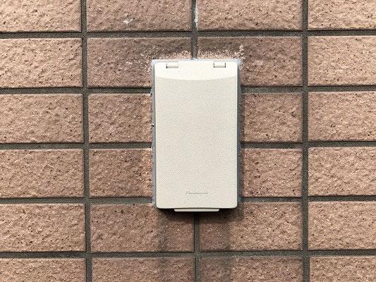 故障した外灯照明スイッチ交換工事の流れ。その1【新潟市中央区内の病院】