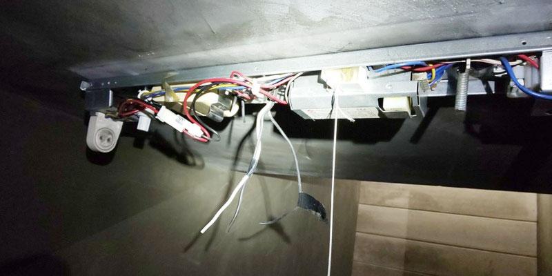照明器具(非常灯併用型)機器内部