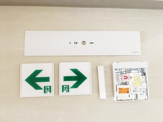 LEDタイプの避難誘導灯