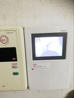 交換工事が完了し、映像が映るようになったマンションのインターホン【新潟市】