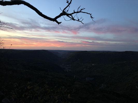 Sonnenaufgang Belvédère du Moine