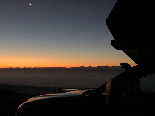 Sonnenaufgang auf dem Chasseral