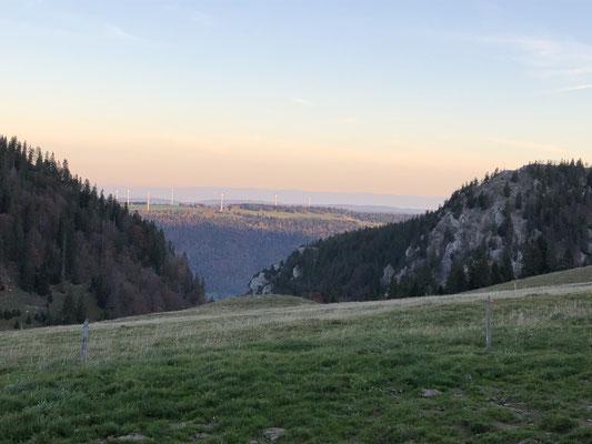 Aussicht Abfahrt Chasseral nach Saint-Imier