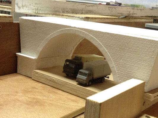 Le pont des Basses granges à l'essai.