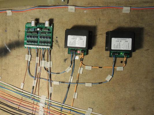 Les modules de boucle de retournement CDF et une carte de rétrosignalisation LDT