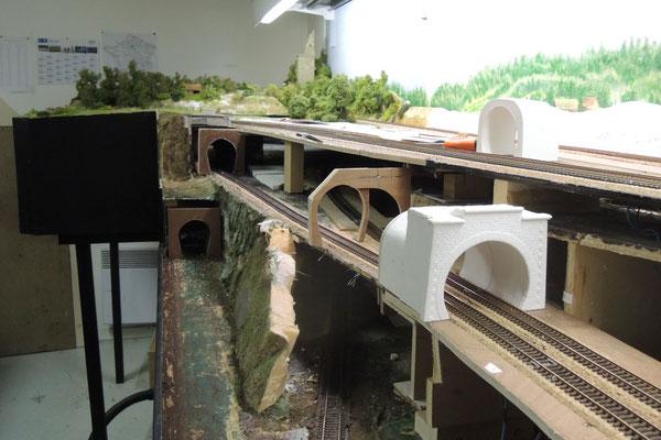 La zone des tunnels