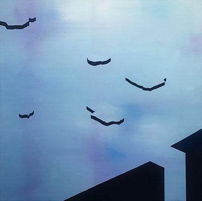 ice flows // 120x120cm // oil on canvas