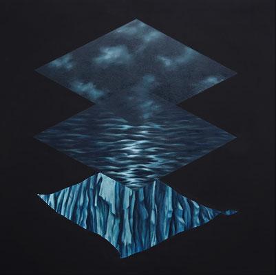 levels de l´eau // 120x120cm // oil on canvas