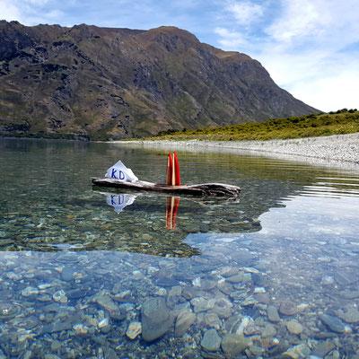 Neuseeland, Lake Hawea. Für gute Anbindung sorgt natürlich die KD... (Phil)