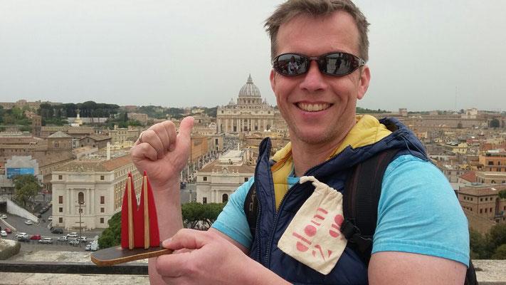 Italien, Rom: Peters Dom vorm Petersdom! (Jochen und Peter)
