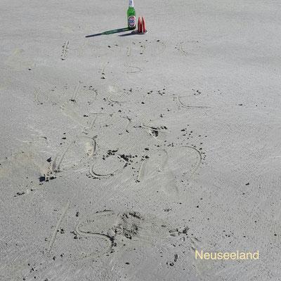 Neuseeland, Gruß vom Strand (Phil)