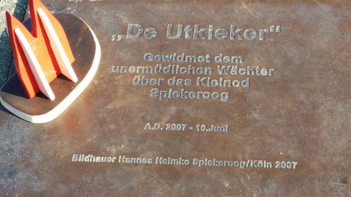 Spiekeroog, De Utkieker Gedenktafel (Friedbert)