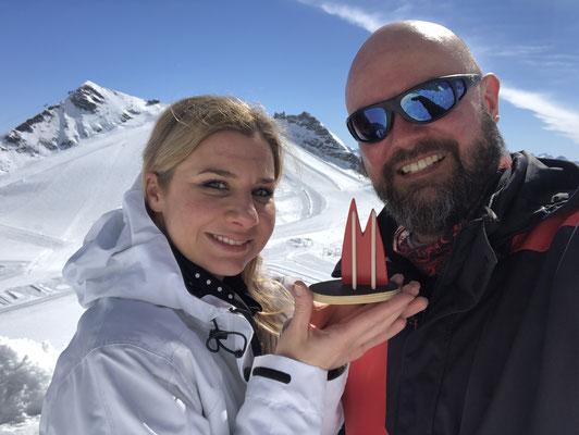 Österreich: Andrea und Gerd vom Gletscher in Hintertux