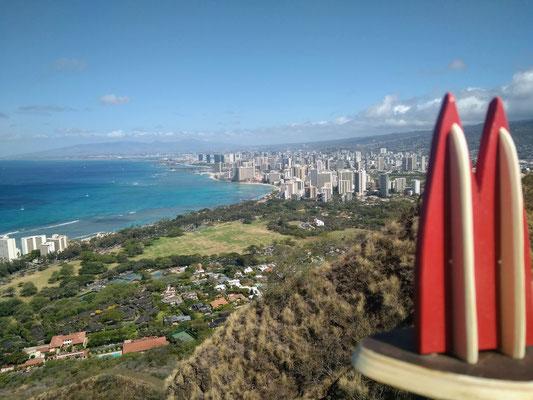 Hawaii, Honolulu: Blick auf Waikiki (Gitta)