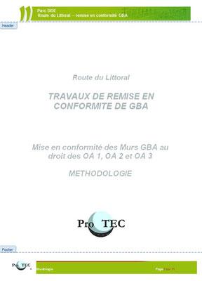 Page de couverture d'un mémoire technique pour des ouvrages en béton extrudé