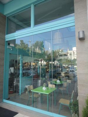 Βιτρίνα εσωτερικού χώρου καταστήματος ιορδανίδης τζάμια κρύσταλλα