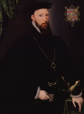 John Lumley, 1st Baron Lumley; Attributed to Steven van der Meulen (fl. 1543–1568). Some rights reserved by lisby