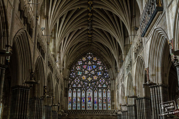 19 février 2014. Cathédrale d'Exeter. Devon. Angleterre.