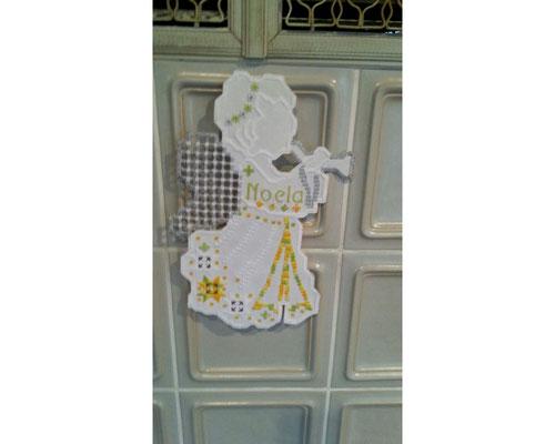 ganz reizende Abwandlung: ein Schutzengel für die kleine Noela. Das Bild wurde freudlicherweise von Frau Ludes zur Verfügung gestellt.