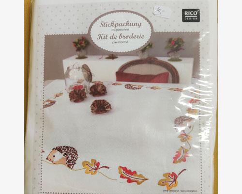 Decke mit Igel, vorgezeichnet, Komplettpackung  10,-€