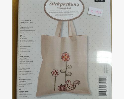 Tasche mit Eichhörnchen, Komplettpackung  10,95 €