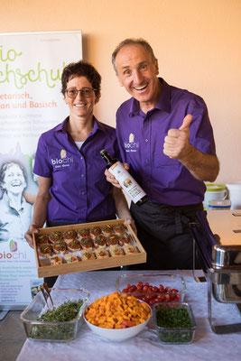 """Veganes Catering für die Eröffnung der Krabbelgruppe """"Gemeinsam Wachsen"""" in Elsbethen"""