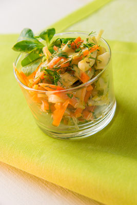 Veganer Karotten-Fenchel-Salat