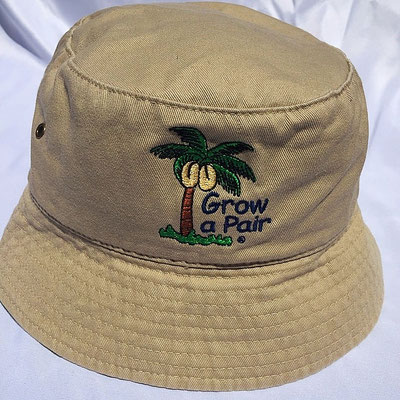 0996508447f CLEARANCE 100% Cotton Grow a Pair Bucket Hats only  9.00