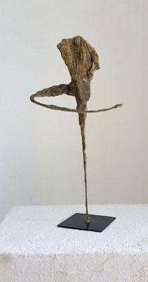 aztekentänzer, Tischskulptur, ca. 65 cm