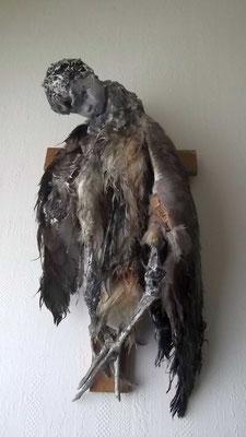 ange dechu, Wandskulptur, ca. 65 cm