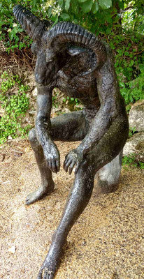 ramblack, Skulptur aussen, lebensgross