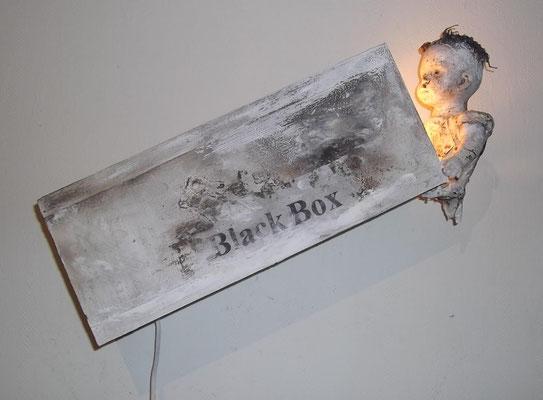 blackbox, Lichtinstallation, ca. 60 cm