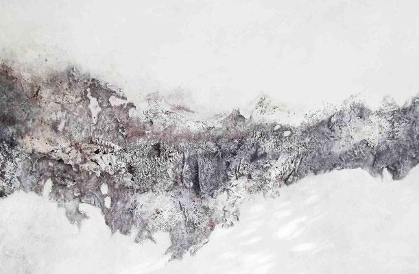 der winter, mixed material, ca. 105 x 160 cm