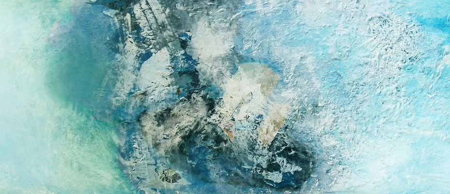 orage bleu, ca. 60x120 cm