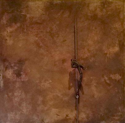 stabtänzer auf Rost, 100 x 100 cm