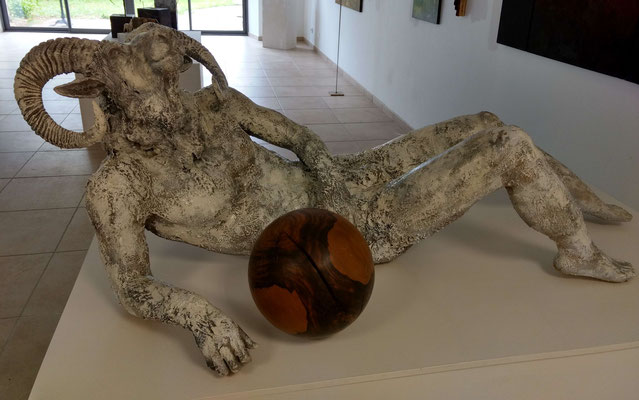 yohhh, ram, the laidback one, Skulptur aussen, lebensgross