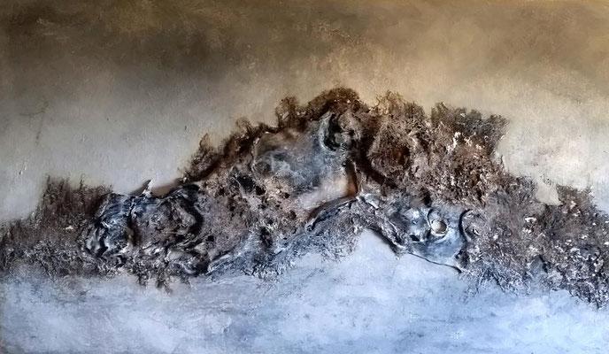 icy magma, ca. 60 x 100 cm