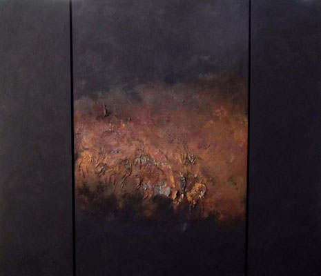 élégance noircie, ca. 130 x 110 cm