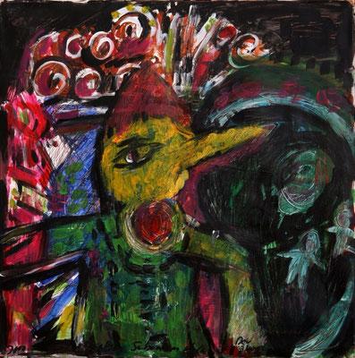 Fliegel-Flagel, 50 x 50 cm