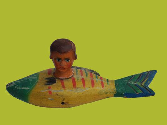 Fischkopf; 35 x 15 x 17 cm