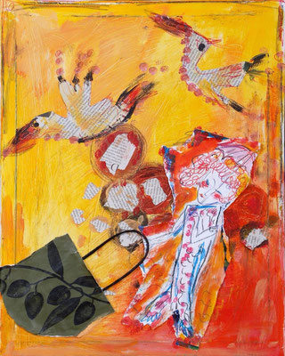 Die Fütterung der Bling- Plongs, 54 x 45 cm