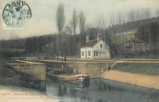 Ecluse de Chalifert, fin du canal.