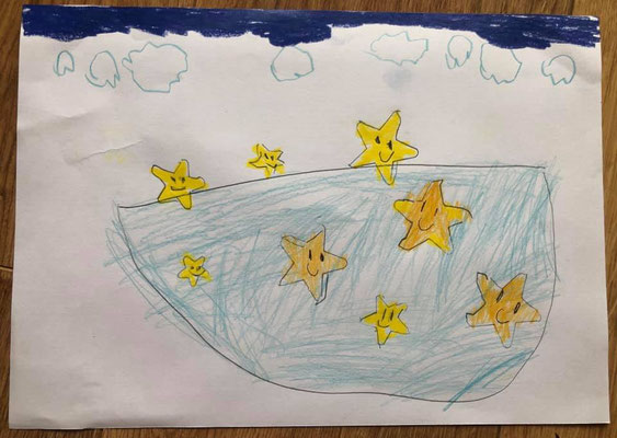 Bild von ALVA SCHNEEFEE zu ihrem Sternengedicht beim 23.Poedu