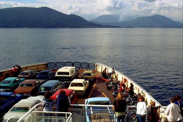 Auf der Fähre von Vancouver nach Vancouver Island