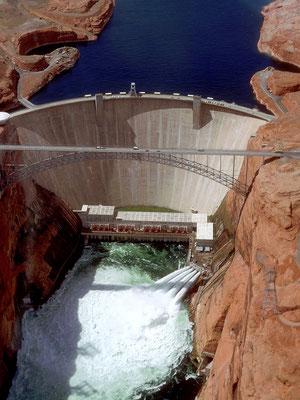 Glen Canyon Dam und Brücke, Arizona 1984